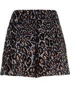 River Island Brown Animal Print High Waisted Shorts - Lyst