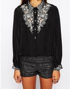 Native Rose Pajama Blouse With Haka Embroidery - Lyst
