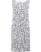 Oscar de la Renta Print Shift Dress - Lyst