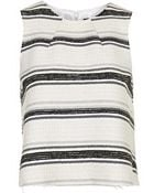Topshop Striped Boucle Shell Top - Lyst
