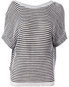 Maison Ullens Striped Oversized Sweater - Lyst