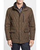 Rainforest Men'S Slim Fit Quilted Waxed Nylon Jacket - Lyst