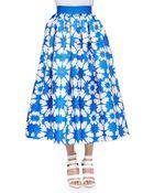 Alice + Olivia Molina Floral-Print Tea-Length Ball Skirt - Lyst