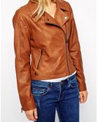 Oasis Faux Leather Biker Jacket - Lyst