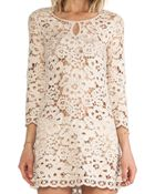 BCBGMAXAZRIA Lace Dress - Lyst