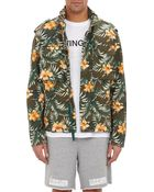Off White C/o Virgil Abloh Hibiscus Crepe Field Jacket - Lyst