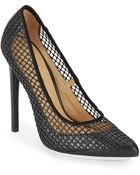 L.a.m.b. Sandy Mesh Point-Toe Pumps/Black - Lyst