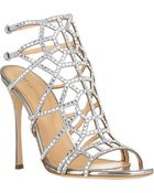 Sergio Rossi Embellished Puzzle Caged Sandals - Lyst