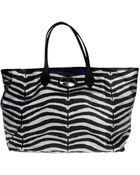 Roberto Cavalli Large Fabric Bag - Lyst