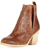 Jeffrey Campbell Orwell Paisley Cutout Bootie - Lyst