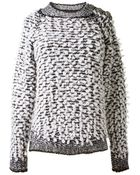 Balmain Chunky Knit Pullover - Lyst