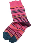 Paul Smith String Striped Socks - Lyst
