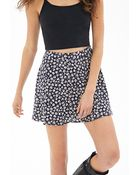 Forever 21 Floral Print Skater Skirt - Lyst