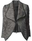 Yigal Azrouël Metallic Tweed Jacket - Lyst