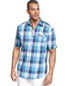 Sean John Big and Tall Tonal Checked Shirt - Lyst