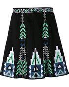 Elle Sasson Embroidered Skirt - Lyst