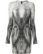Alexander McQueen Fox Print Pencil Dress - Lyst