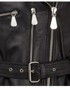 McQ by Alexander McQueen  Peplum Leather Biker Jacket - Lyst