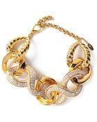 Giuseppe Zanotti Crystal Embellished Bracelet - Lyst