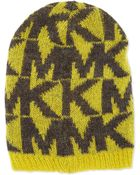 MICHAEL Michael Kors Oversize Logo Knit Hat - Lyst