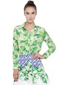 Isolda Printed Light Silk Crepe Shirt - Lyst