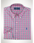 Polo Ralph Lauren Plaid Oxford Sport Shirt - Lyst