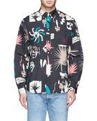 Paul Smith Graphic Print Cotton Poplin Shirt - Lyst