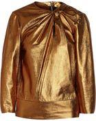 Isabel Marant Bora Metallic Leather Top - Lyst