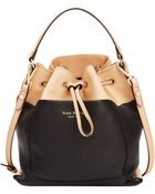 Isaac Mizrahi New York Isaac Mizrahi Pebbled Leather Lillian Bucket Bag - Lyst