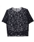 Carven Lace Short Sleeve Tee - Lyst