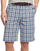 Geoffrey Beene Box Plaid Shorts - Lyst