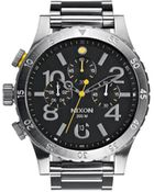 Nixon 48-20 Chrono Black Watch - Lyst