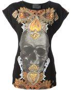 Philipp Plein Skull Motif T-Shirt - Lyst