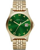 Marc By Marc Jacobs Womens The Slim Goldtone Stainless Steel Bracelet Watch 36mm - Lyst