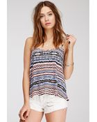 Forever 21 Abstract Tribal Print Cami - Lyst