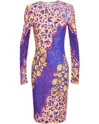 Peter Pilotto Abstract Floral Jersey Dress - Lyst