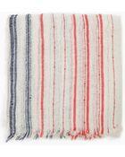 Mango Striped Linen-Blend Scarf - Lyst