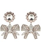 Miu Miu Crystal-Embellished Clip-On Earrings - Lyst