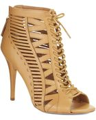 Nine West Angellica Lace Up Heels - Lyst