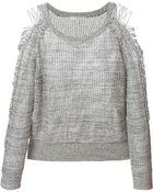 IRO Yana Cotton Sweater - Lyst