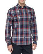 Vince Plaid Button-Down Shirt - Lyst