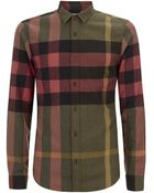 Burberry Brit Holmes Checked Flannel Shirt - Lyst