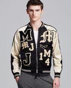 Marc By Marc Jacobs Satin Varsity Jacket - Lyst