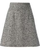 Dolce & Gabbana Tweed A-Line Skirt - Lyst