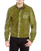 DSquared² Military Green Leather Jacket - Lyst