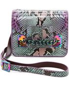 Sophie Hulme Python Chain Mini Envelope Bag - Purple/Mint - Lyst