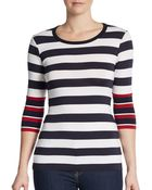 Bailey 44 Striped Jersey-Knit Top - Lyst