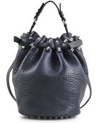 Alexander Wang Diego Pebble Silver Bag - Lyst