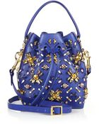Sophie Hulme Crystal-Embellished Small Drawstring Bucket Bag - Lyst