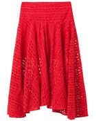 Preen Line Clare Embroidered Tulle Skirt - Lyst
